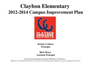 Claybon Elementary 2012-2014  Campus  Improvement Plan