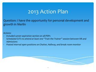 2013 Action Plan