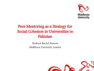 Peer Mentoring as a Strategy for  Social Cohesion in Universities in Pakistan