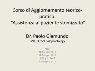 """Corso di Aggiornamento teorico-pratico:  """"Assistenza al paziente stomizzato"""""""