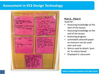 Assessment in KS3 Design Technology