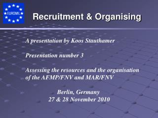 A presentation by  Koos Stauthamer Presentation number 3