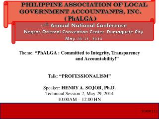PHILIPPINE ASSOCIATION OF LOCAL GOVERNMENT ACCOUNTANTS, INC.    (  PhALGA )