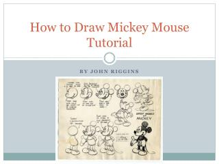 How to Draw Mickey Mouse Tutorial