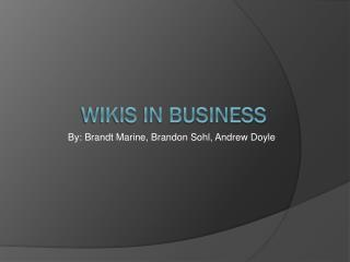 Wikis in Business