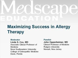Maximizing Success in Allergy Therapy