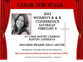 2013  Women's R & R  Conference Saturday   February 9