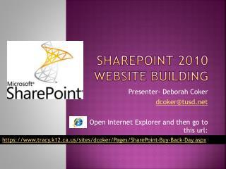 SharePoint 2010  Website Building