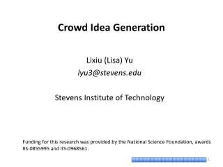 Crowd Idea Generation