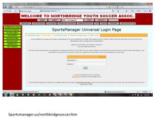 Sportsmanager /northbridgesoccer.htm