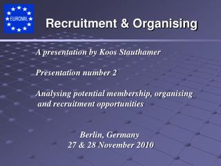 A presentation by  Koos Stauthamer Presentation number 2