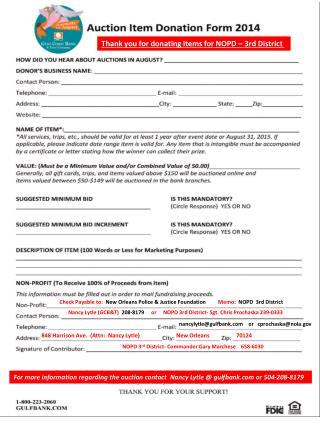 Nancy Lytle (GCB&T)   208-8179      or     NOPD 3rd District- Sgt. Chris Prochaska 239-0333