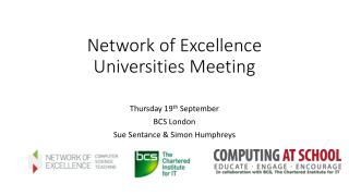Network of Excellence Universities Meeting