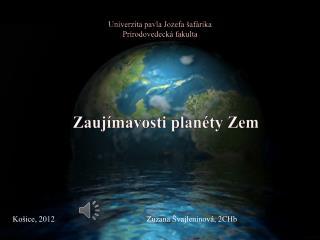 Univerzita pavla Jozefa šafárika Prírodovedecká fakulta