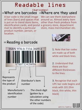 Readable lines (barcodes)