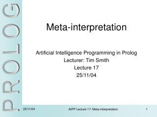 Meta-interpretation