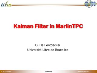Kalman  Filter in  MarlinTPC