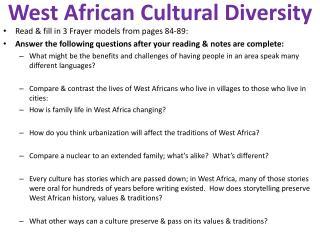 West African Cultural Diversity