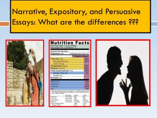Narrative, Expository, and Persuasive  Essays: What are the differences ???