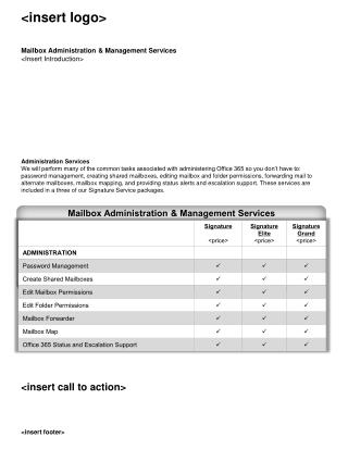 Mailbox Administration & Management Services