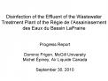 Disinfection of the Effluent of the Wastewater Treatment Plant of the R gie de l Assainissement des Eaux du Bassin LaPra