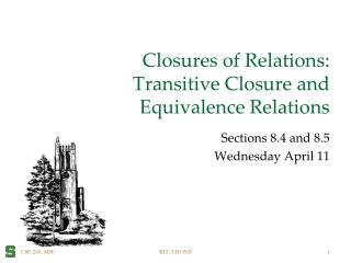Closures of Relations: Transitive Closure and  Equivalence Relations