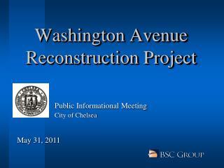 Washington Avenue Reconstruction Project