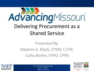 Delivering Procurement as a Shared Service