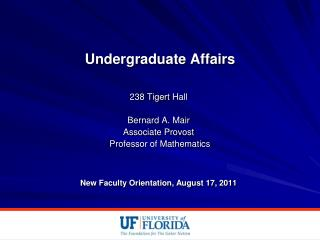 Undergraduate Affairs