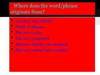 Where does the word/phrase originate from?