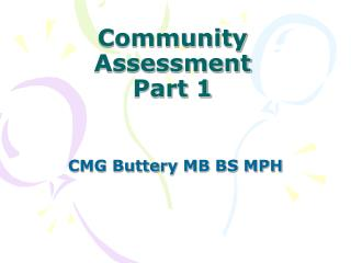 Community Assessment Part 1