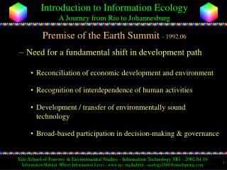 Premise of the Earth Summit - 1992.06