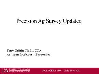 Precision Ag Survey Updates