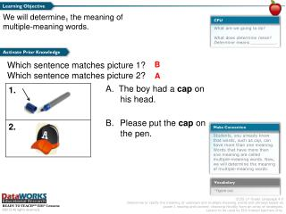 What are we going to do? What does  determine  mean? Determine  means __________.