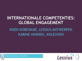 Internationale competenties: Global engagement