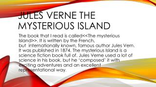 Jules Verne the mysterious island