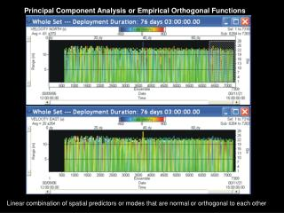 Principal Component Analysis or Empirical Orthogonal Functions