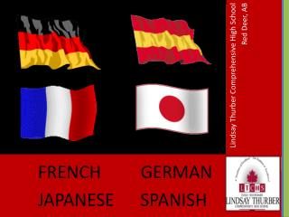 FRENCH         GERMAN                      JAPANESE      SPANISH