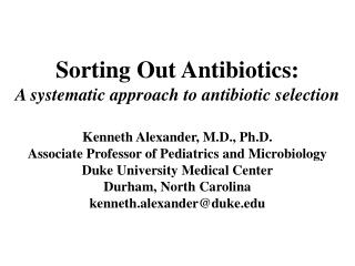 Sorting Out Antibiotics: