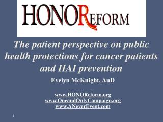 The patient perspective on public health protections for cancer patients and HAI prevention