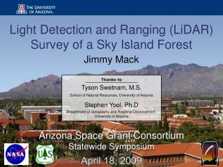 Arizona Space Grant Consortium Statewide Symposium