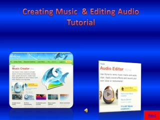 Creating Music  & Editing Audio Tutorial