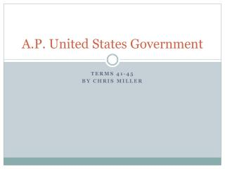 A.P. United States Government