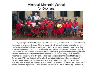 Mbabaali Memorial School  for Orphans