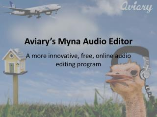Aviary's Myna Audio Editor