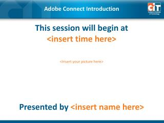 Adobe Connect Introduction