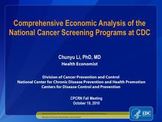 Chunyu Li, PhD, MD Health Economist