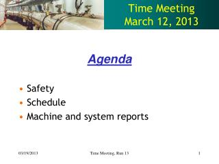 Time Meeting March 12, 2013