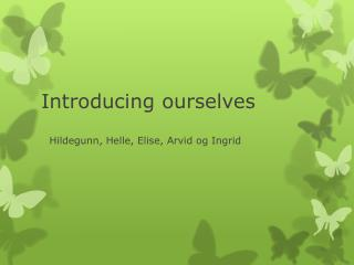 Introducing ourselves