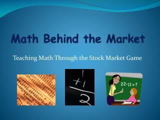 Math Behind the Market